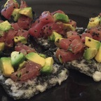 Tuna & Avocado Tartare on Crispy Nori
