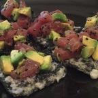 Tuna & Avocado Tartare on Crispy Nori