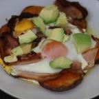 Bacon and Egg Paleo Breakfast Pizza