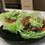 Paleo Beef Taco Mix in Lettuce Cups