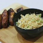 Thai Style Chicken Wings with Cauliflower Fried Rice