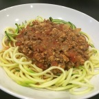 Chili With A Twist On Zucchini Noodles